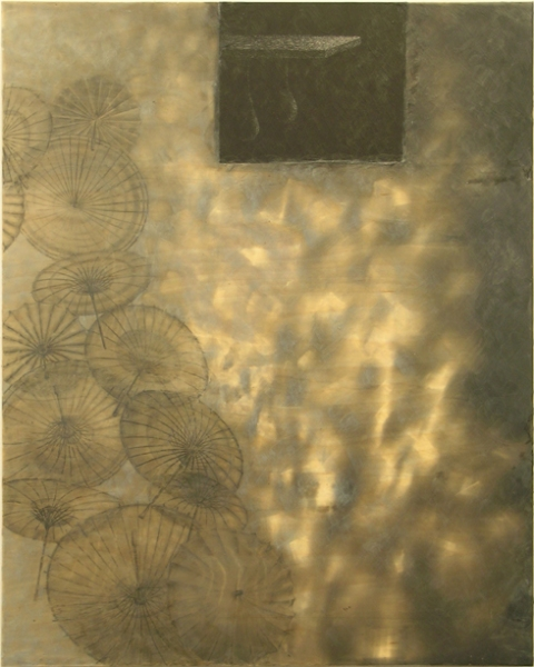 2006 - 2010 Encaustic and collage on wood panel
