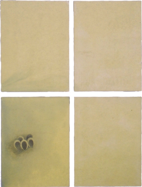 1996 - 2000 Encaustic and collage on four panels