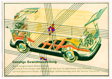 John Melville Postcards from the Autobahn Ink and gouache on found image