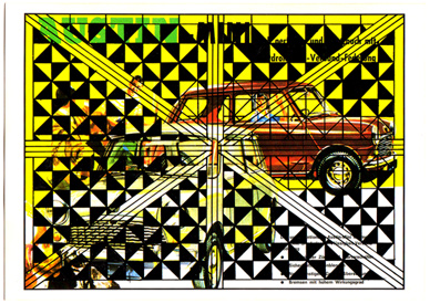 John Melville Postcards from the Autobahn Mixed Media