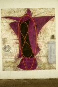 John Newman  Drawing - 1980-1989 Chalk and oil stick on paper