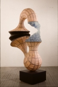 John Newman  Sculpture - 1990-2001 Aluminum, steel, gauze, leather, epoxy and plastic