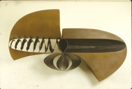 John Newman  Sculpture - 1980-1989 Steel, rusted, polished, stove blackened, torch cut
