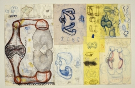 John Newman  Drawing - 2004-2008 colored pencil, pencil, china marker, ink collage on paper