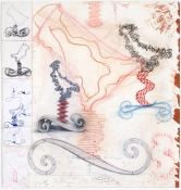 John Newman  Drawing - 2004-2008 colored pencil, pencil, ink, conte crayon, chalk, collage