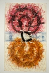 John Newman  Drawing - 1990-2003 chalk, china marker, pencil, colored pencil, graphite, gouache on paper