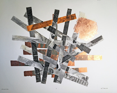 John T Adams Collage Mixed media on paper.