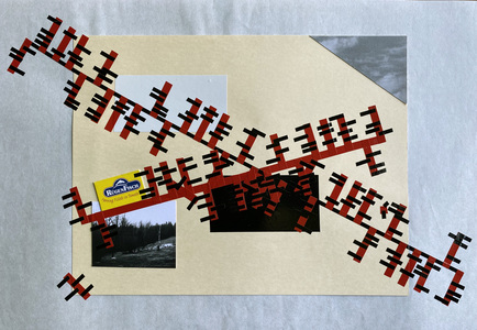 John T Adams Quarantine Projects - Volume 2 Photographs, found objects and vinyl tape.