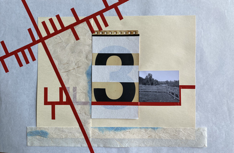 John T Adams Quarantine Projects - Volume 2 Photograph, found objects and vinyl tape