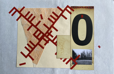 John T Adams Quarantine Projects - Volume 2 Photograph, found objects and vinyl tape.