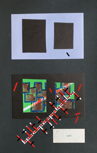 John T Adams Quarantine Projects - Volume 4 - Window Drawings Acrylic paint, ink, card stock and vinyl tape