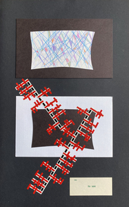 John T Adams Quarantine Projects - Volume 4 - Window Drawings Colored pencil, card stock and vinyl tape