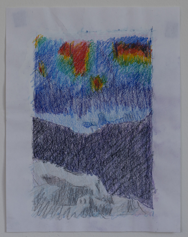 Jon Marshalik Drawing Store colored pencil and gauche on paper