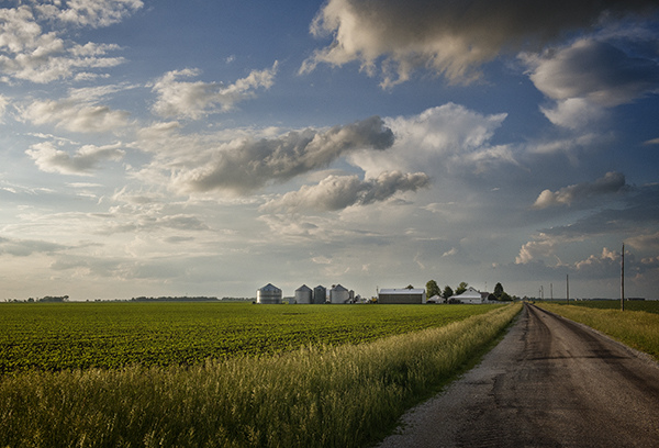 The Prairie:  Flat Land, Spacious Skies Country Road  ©