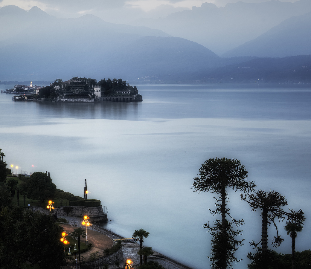 Landscapes Gallery Evening on Lake Maggiore:  Isola Bella  ©