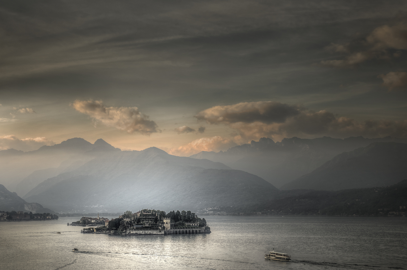 Landscapes Gallery Lake Maggiore at Twilight:  Isola Bella  ©