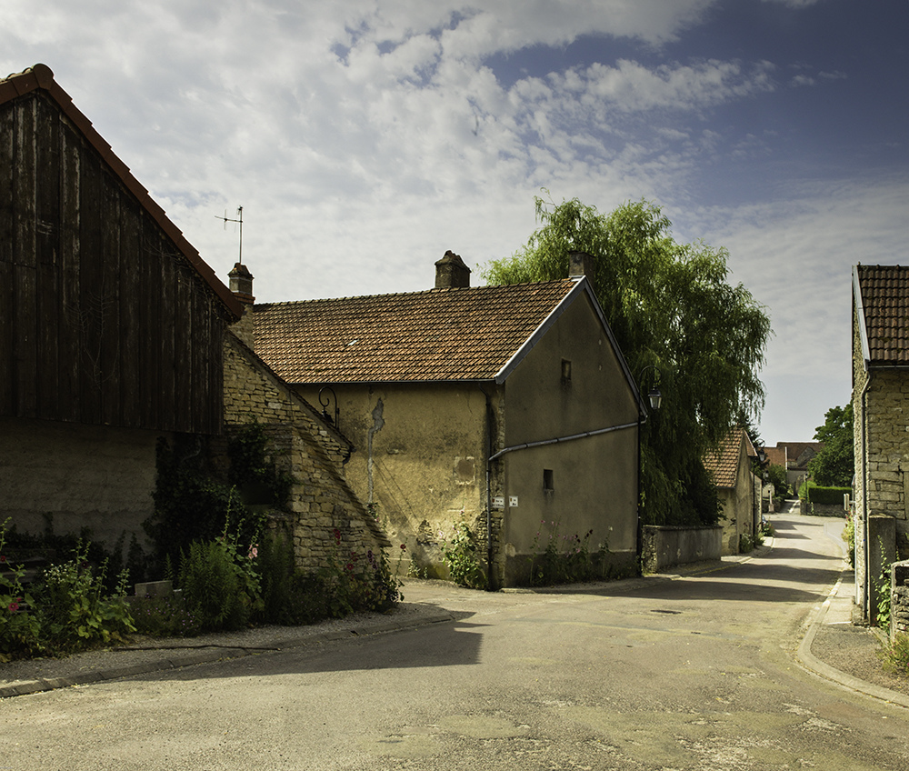 Landscapes Gallery Burgundy Village on a Very Hot Afternoon  ©