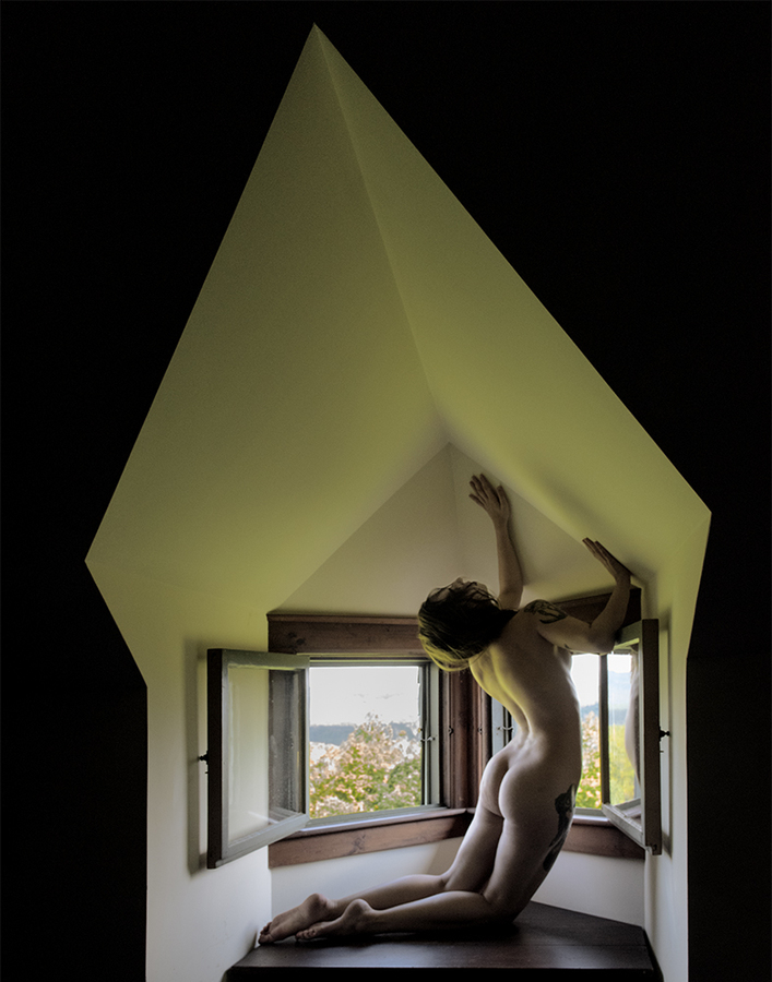 Nude Studies Evyenia in Architectural Space:  Image One  ©