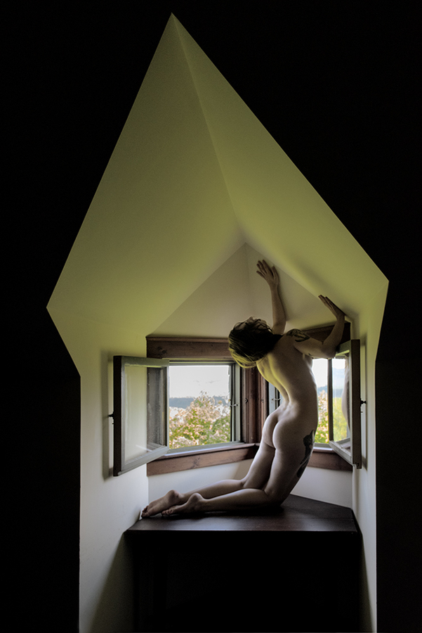 Nude Studies Evyenia in Architectural Space:  Image Two  ©