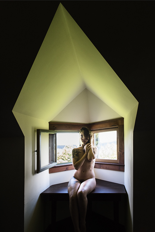 Nude Studies Evyenia in Architectural Space:  Image Nine  ©