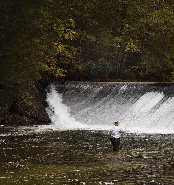 Landscapes Gallery Fly Fishing 5:  Fishing the Foot of the Dam  ©