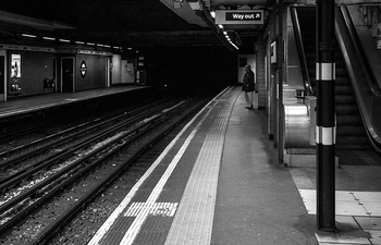 London Tube Late at Night  ©