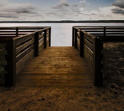 The Ramp to the Water:  Jordan Lake  ©