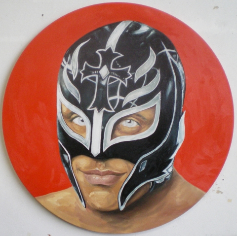 Joseph Borzotta Lucha Libre series Oil on canvas