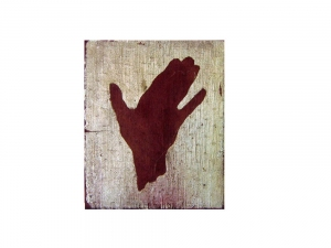 Joseph Haske HANDPRINTS GOLD LEAF/ACRYLIC/FABRIC/WOOD