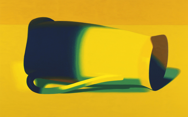 Half Colors, 2009  Pitcher (yellow), 2008. Oil on panel, 15 x 24 inches.