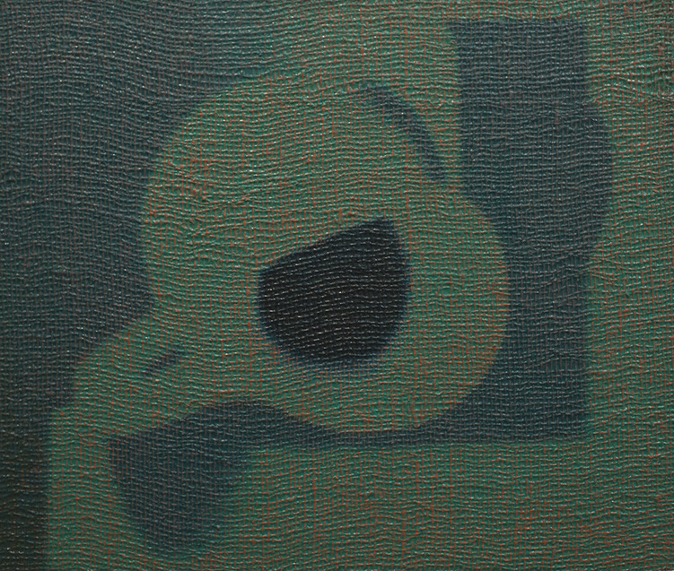 Burlap, 2011  Pitchers, 2011. Oil on burlap on panel, 22 x 24 inches.