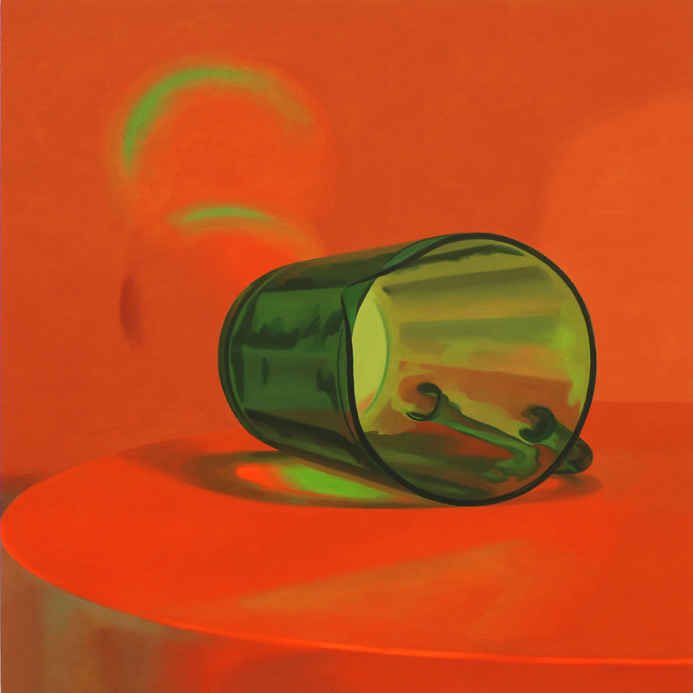 Inquirer, 2007 Green Pitcher, 2007. Oil on panel, 16 x 16 inches.