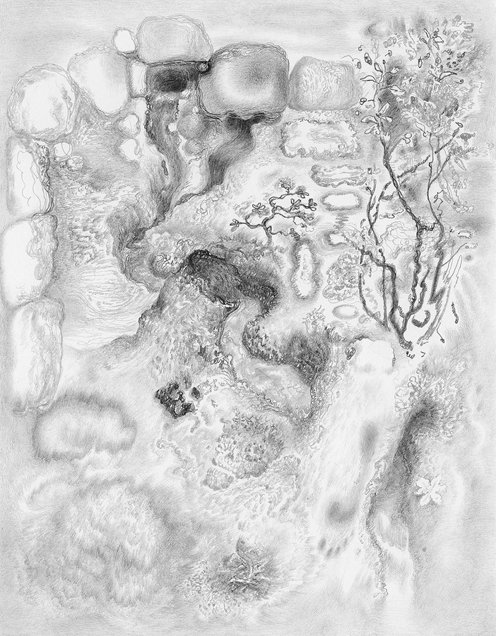 Paper Garden, 2017 Drift, 2017, graphite on paper, 7 x 5.5 inches