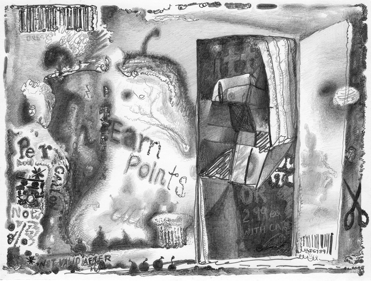 Drawings, 2015 Earn Points, 2016, graphite on paper, 5.5 x 7 inches