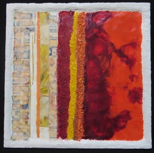 JOY J. ROTBLATT 2019 Exhibitions M/M with encaustic on cradled board