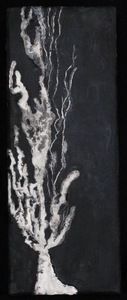 JOY J. ROTBLATT Poplars Encaustic on Wood Block