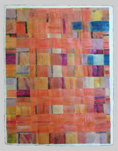 JOY J. ROTBLATT Archived Encaustic Paintings Woven Paper with Encaustic on Wood