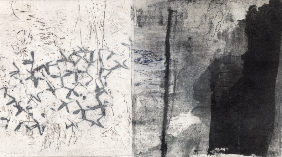 New Work  New Work drypoint, collagraph