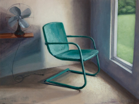 Judith Pointer Jia Lawn Chairs  oil on canvas on panel