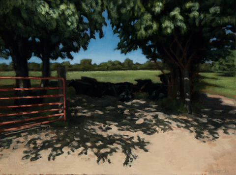 Judith Pointer Jia Cows & Landscapes oil on canvas on panel