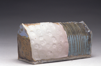 Judith Pointer Jia Houses glazed stoneware, ^10 reduction