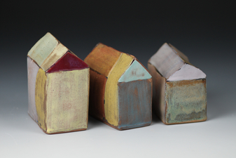 Judith Pointer Jia Houses glazed stoneware, ^6 oxidation