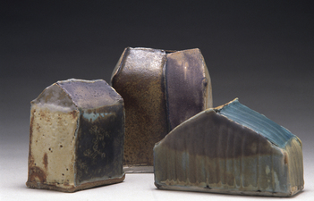 Judith Pointer Jia Houses glazed stoneware, ^9 reduction