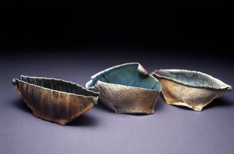 Judith Pointer Jia Boat Vessels soda glazed stoneware, ^9