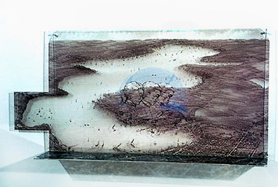 Judith Ostrowitz Works on Plexiglas 2005 - 2009 Digitized Imagery on Plexiglas