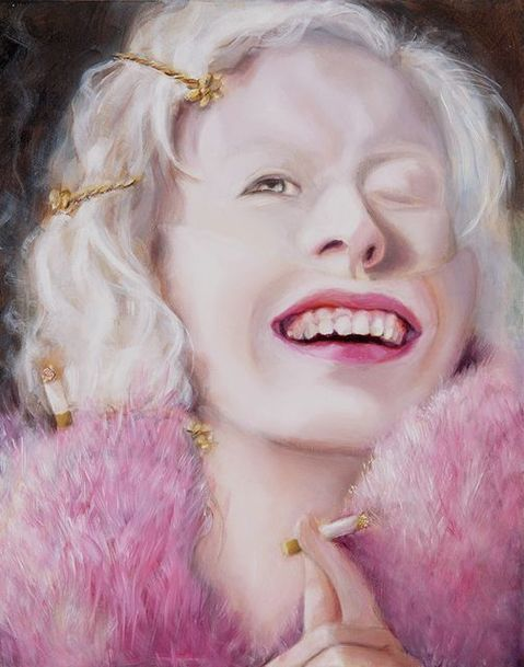 Paintings Albinos Smoking