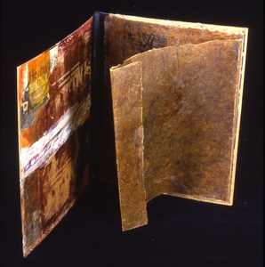 Judith Uehling Books Encaustic, Silkscreen, crayon on paper