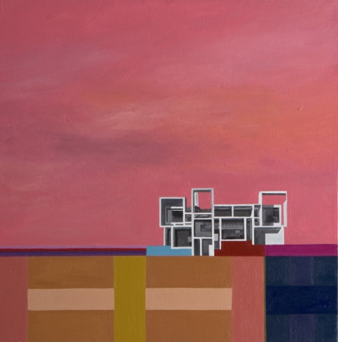Utopian Structures (2007 - Present) Acrylic on canvas