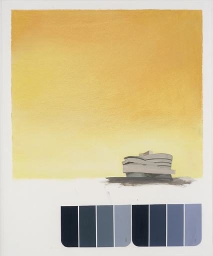 Museum Paintings + Drawings (2005) Wright Landscape (Guggenheim Color Study, Yellow)
