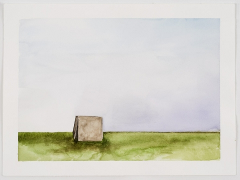 Sculpture Paintings + Drawings (2004) Watercolor on paper